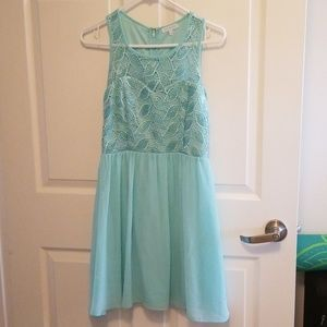 Jun and Ivy Blue Sequin Dress